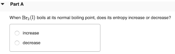The normal boiling point of Br2(l) is 58.8 °C, and its ...