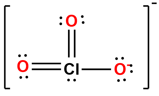 The Lewis Structure For The Chlorate Ion Is Calculate The Fo Clutch Prep Most lewis structures will follow the octet rule, which states that the outer (valence) shell is stable when it has eight electrons. lewis structure for the chlorate ion is