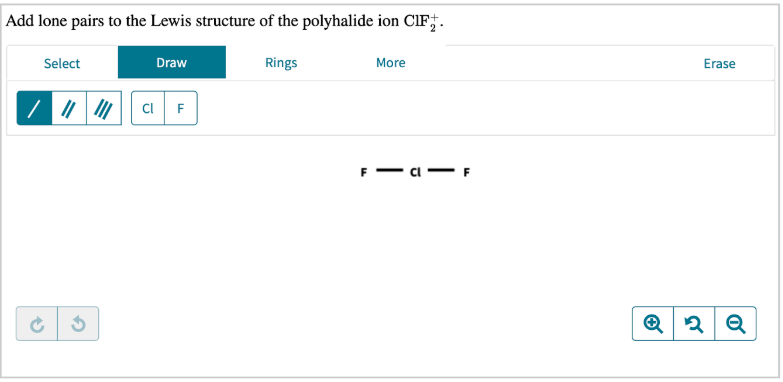 Add Lone Pairs To The Lewis Structure Of The Polyhalide Ion Clutch Prep