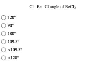 What is the value of the bond angles in sicl4?
