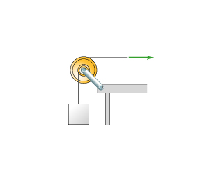 The pulley in the figure(Figure 1) represents diff