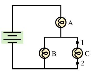 The three bulbs in (Figure 1) are identical. Part