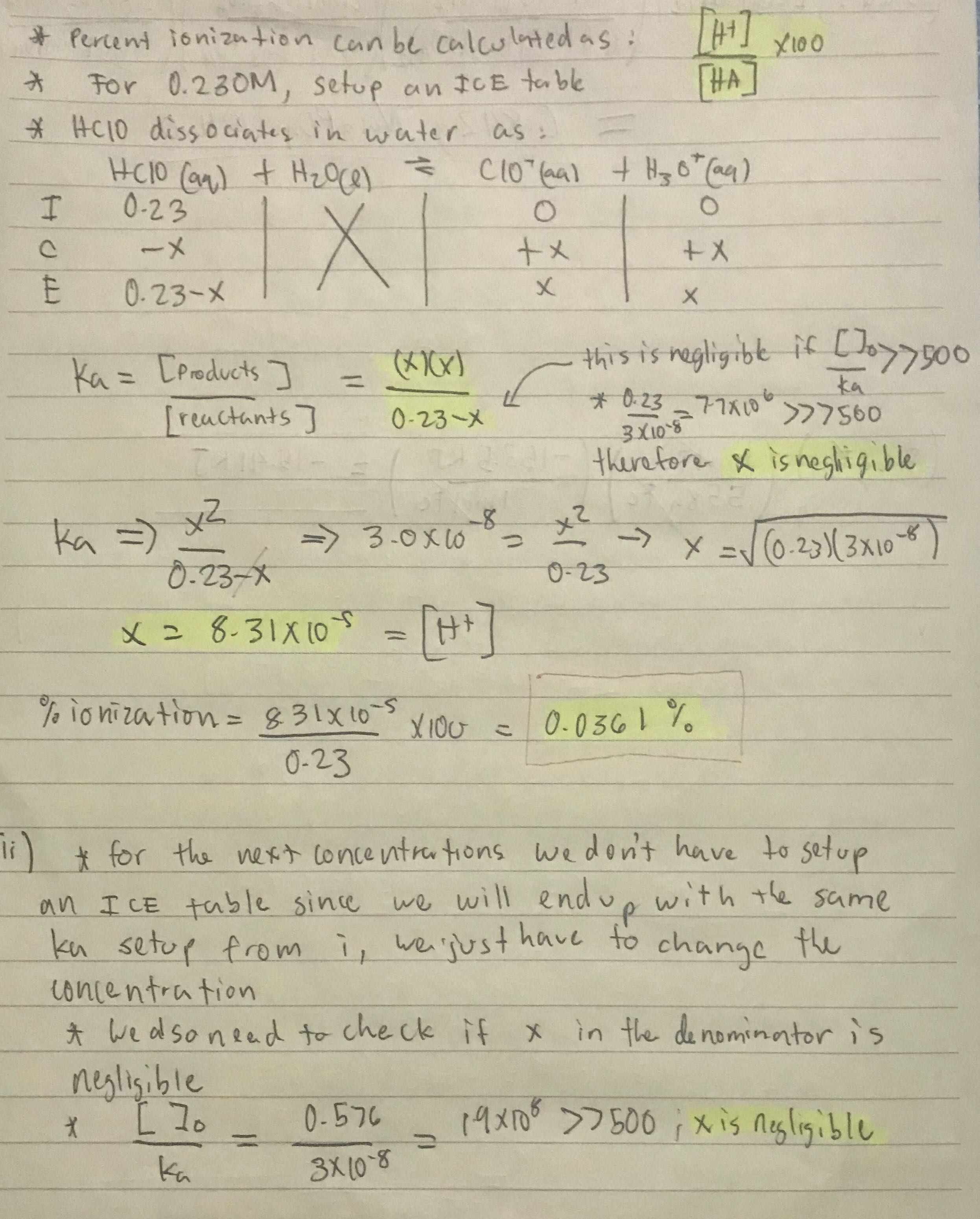 Solution: Calculate The Percent Ionization...   Clutch Prep