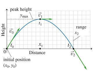 x y graph of projectile