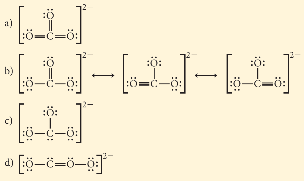 which is the correct lewis structure for co32–?