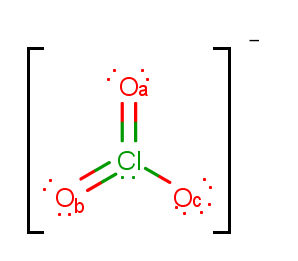 The Lewis Structure For The Chlorate Ion I Clutch Prep The nonbonding valence electrons are now used to satisfy the octets of the atoms in the molecule. lewis structure for the chlorate ion