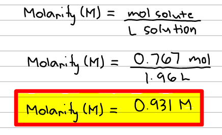 Molarity - Chemistry Video | Clutch Prep