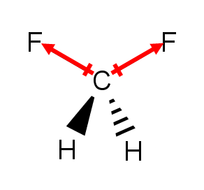 The Molecule Shown Here Is Difluoromethane Clutch Prep