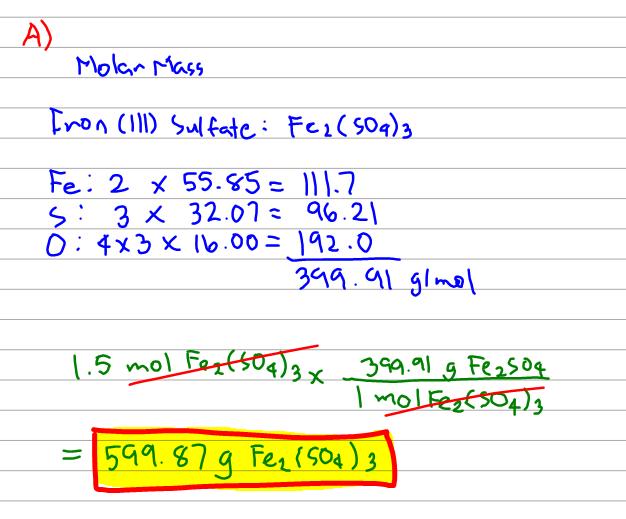 Solution: How many moles of sodium ions (      Chemistry