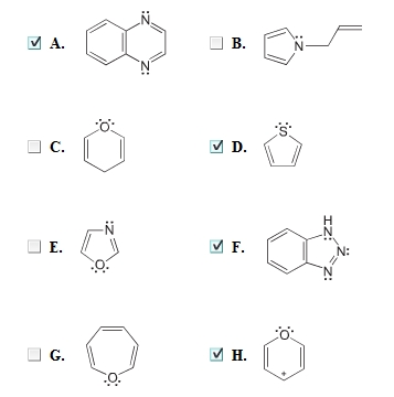 Image for Which of the following heterocycles are aromatic?