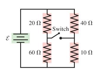 20 Ω 40 S2 Switch 60 Ω 10Ω