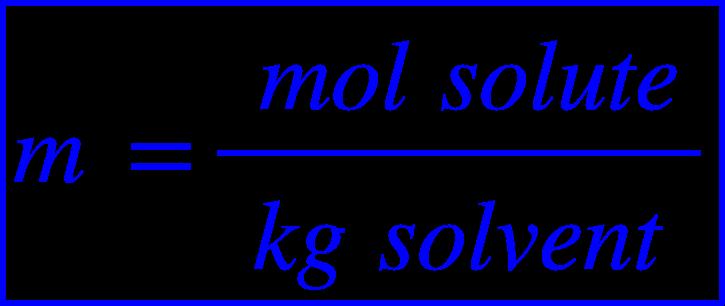 """<math xmlns=""""http://www.w3.org/1998/Math/MathML""""><menclose mathcolor=""""#0000FF"""" notation=""""box""""><mi>m</mi><mo>&#xA0;</mo><mo>=</mo><mfrac><mrow><mo>&#xA0;</mo><mi>m</mi><mi>o</mi><mi>l</mi><mo>&#xA0;</mo><mi>s</mi><mi>o</mi><mi>l</mi><mi>u</mi><mi>t</mi><mi>e</mi></mrow><mrow><mi>k</mi><mi>g</mi><mo>&#xA0;</mo><mi>s</mi><mi>o</mi><mi>l</mi><mi>v</mi><mi>e</mi><mi>n</mi><mi>t</mi></mrow></mfrac></menclose></math>"""