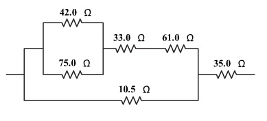 Image for Find the equivalent resistance of the combination of resistors shown in the figure.