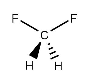 The Molecule Shown Here Is Difluoromethane Clutch Prep