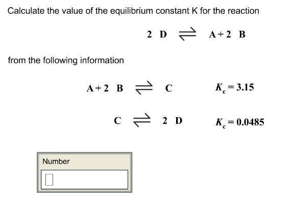 Calculate the value of the equilibrium con    | Clutch Prep