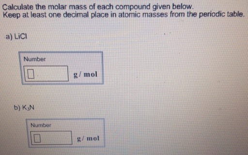 Calculate the molar mass of each compound clutch prep solution calculate the molar mass of each compound given below keep urtaz Choice Image