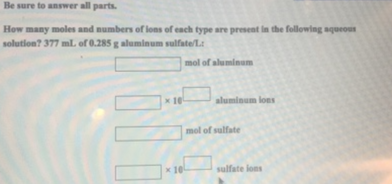 Be Sure To Answer All Parts Many Moles Clutch Prep