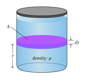 dy density: ρ