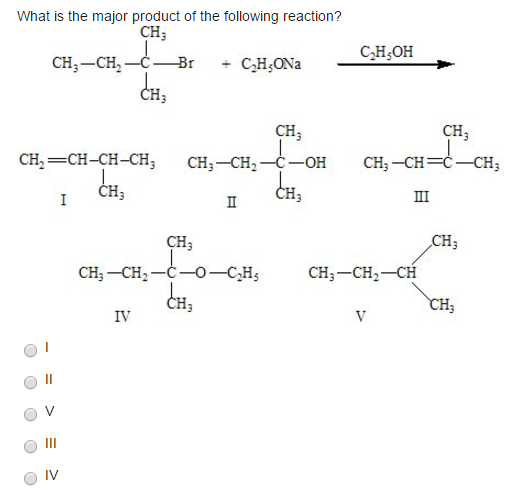 What Is The Major Product Of The Following...