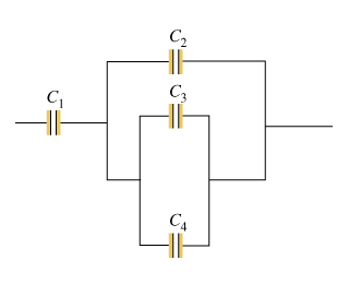 Consider the combination of capacitors shown in th