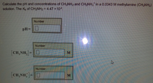 Calculate the pH and concentrations of CH3    | Clutch Prep