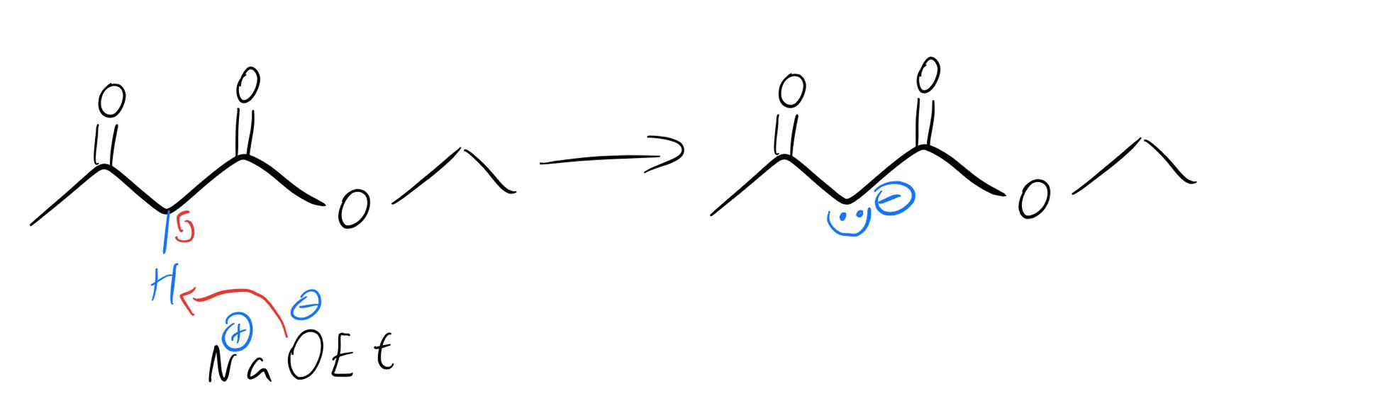 Methylene-enolate-formation