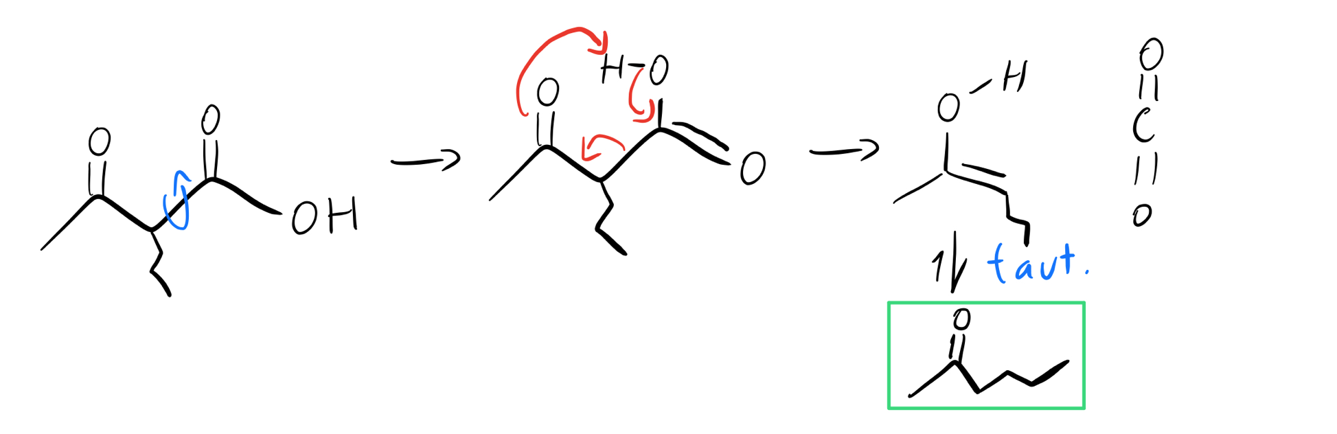 Tautomerization-and-decarboxylation