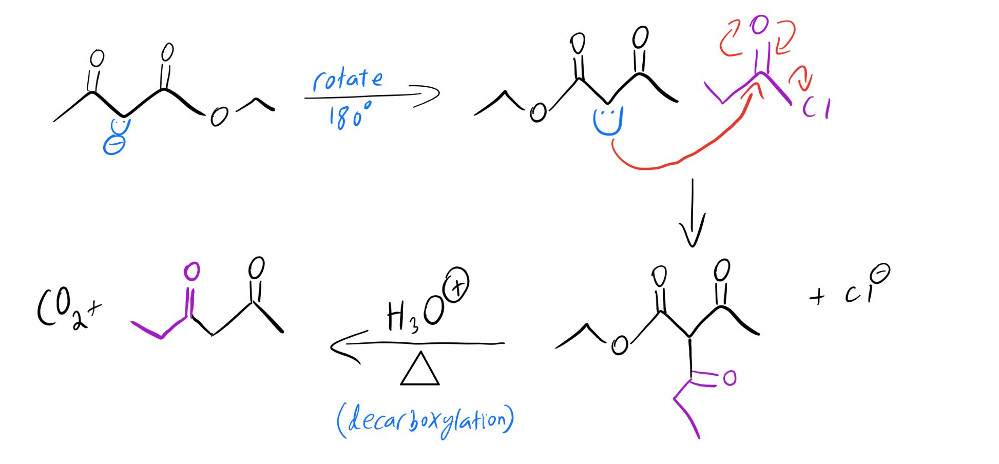 Enolate-acylation-mechanism