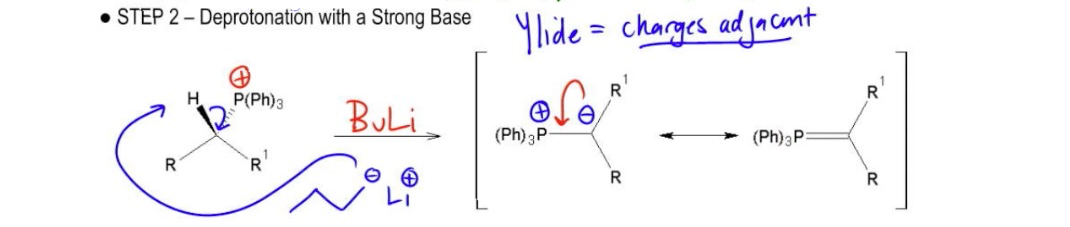 Deprotonation-to-form-the-ylide
