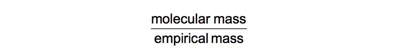 Molecular-Empirical-Ratio