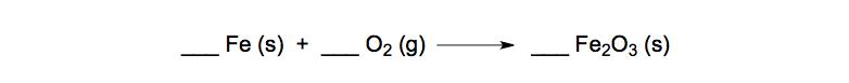 Unbalanced-Chemical-Equation-Fe-O2-Fe2O3-reaction-combination