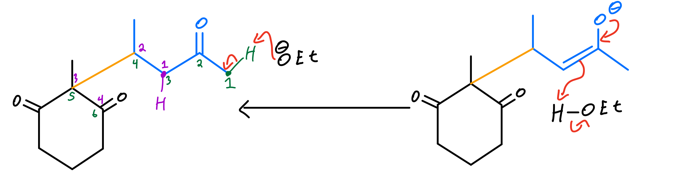 Second-enone-formation