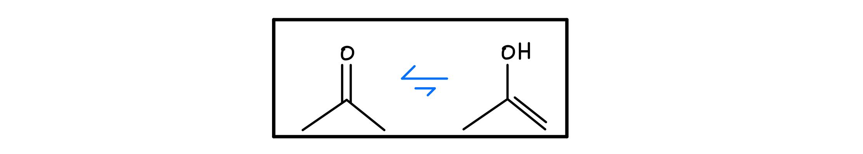 Keto-enol-equilibrium