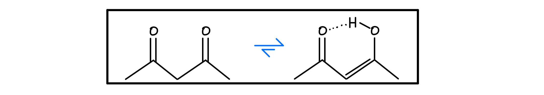 Beta-dicarbonyl-tautomerization