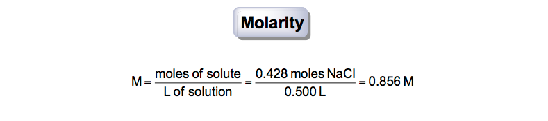 Molarity-from-mass-volume