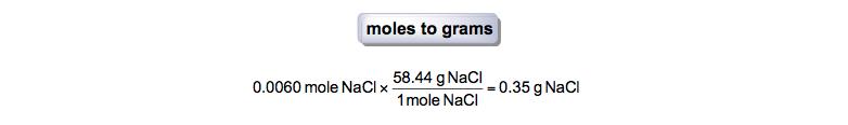 Moles-to-grams