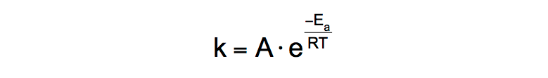 Arrhenius-Equation-rate-coefficients