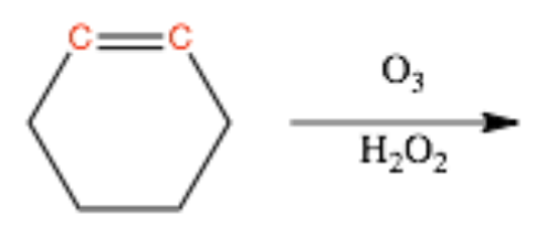 Ozonolysis-with-Oxidative-Workup-of-Cyclic-Alkene