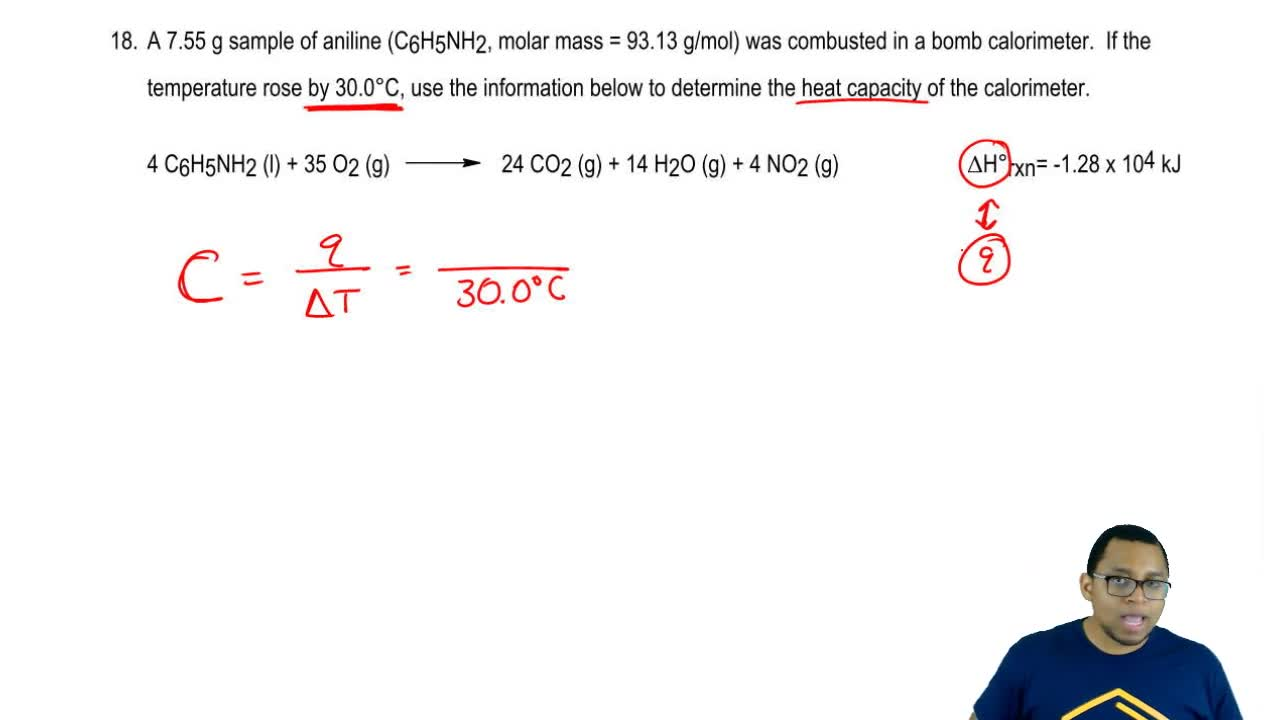 how to solve bomb calorimeter problems