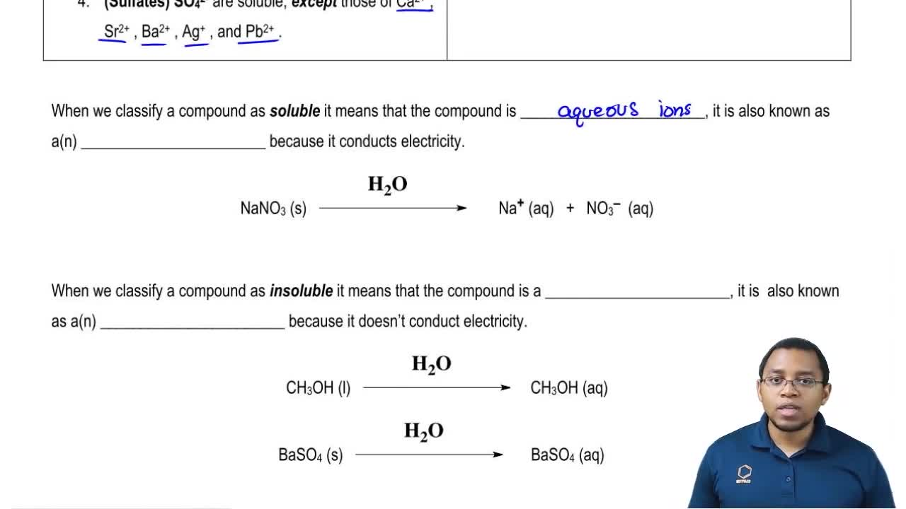 Solubility Rules Zumdahl Solubility Rules